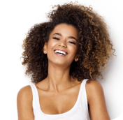 an African American woman laughing