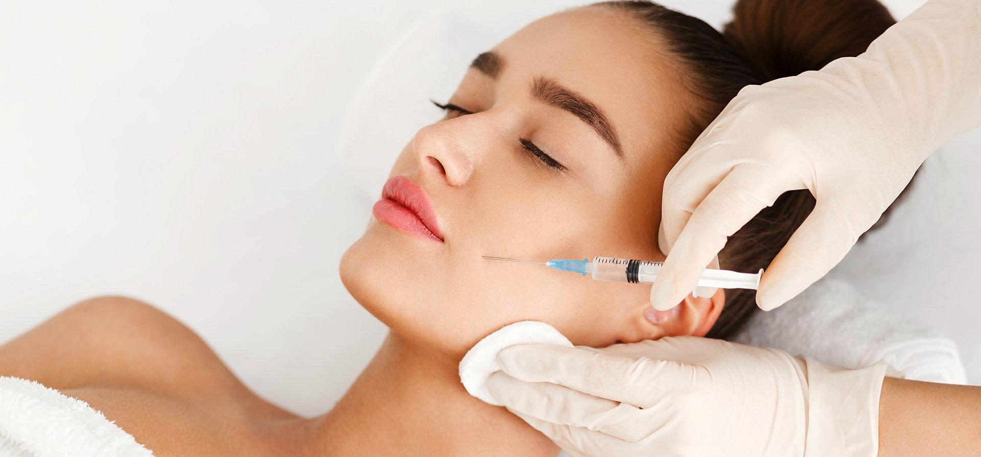 a woman getting a botox